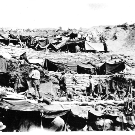 Anzac Cove encampment 1915