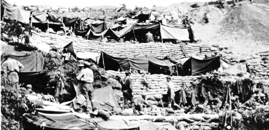 Anzac Cove encampment 1915