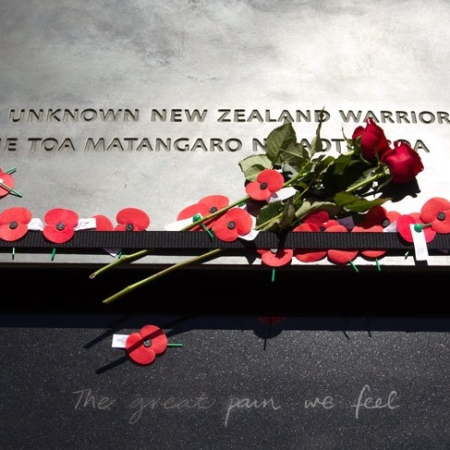 He Toa Matangaro No Aotearoa - Tomb of the Unknown Warrior, Wellington, New Zealand. Source: Ministry of Culture and Heritage, NZ