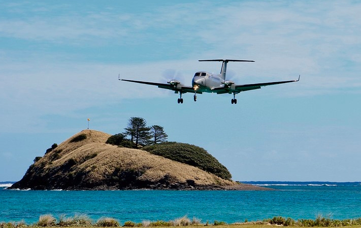 King Air KA350 on delivery trip at Lord Howe Island - Credit: Wings Over New Zealand Site