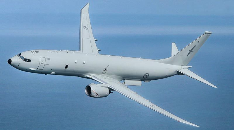 A mocked up image by NZDF of a P-8A Poseidon in Kiwi livery.