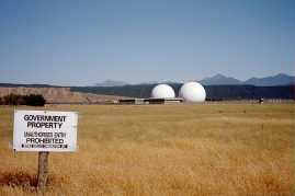 NZ GCSB Waihopai Satellite Monitoring Facility. Photo by Schutz - Own work, CC BY-SA 3.0, https://commons.wikimedia.org/w/index.php?curid=7713278