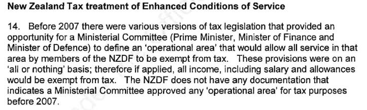 NZDF Tax Treatment Prior to 2007