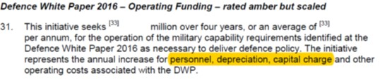 Treasury Advice Defence Budget 2018 - DWP funding