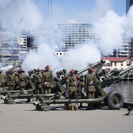 100 Gun Salute in Wellington 11 November 2018 - medium