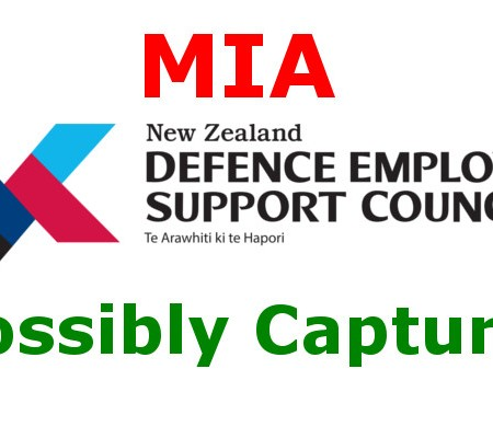Defence Employer Support Council MIA Possibly Captured