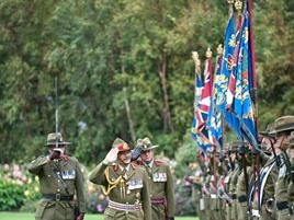 NZ Army Territorial Force 5/7 Bn Amalgamation Ceremonial Parade