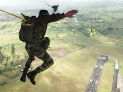 Soldier Static Line Parachute Exit from C130 Ramp (Source NZDF)