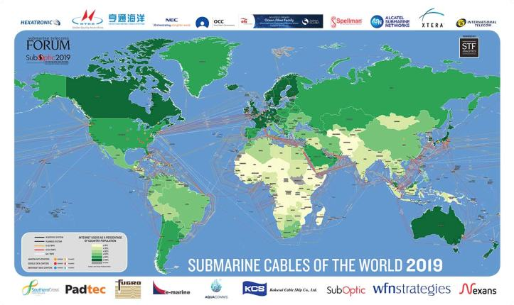 Submarine Cable Map 2019