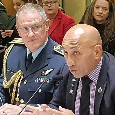 Hon Ron Mark & NZ CDF Kevin Short - Source Scoop
