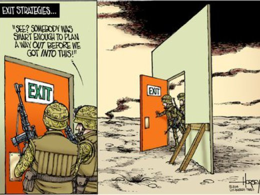 Exit strategy cartoon