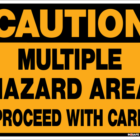 Multiple Hazard Area Sign