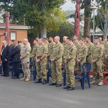 Powhiri for NZDF Personnel at MIQ - Credit RNZ